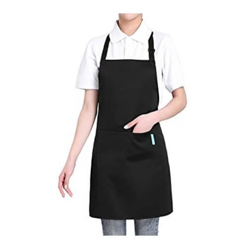 Red, pink, yellow, purple, white cotton restaurant aprons wholesale suppliers